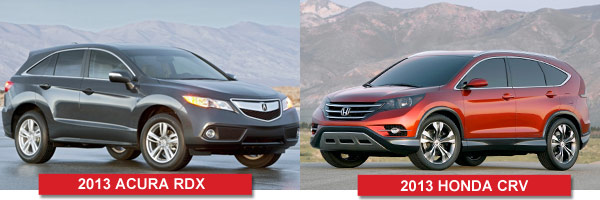 The Acrua RDX vs. The Honda CRV