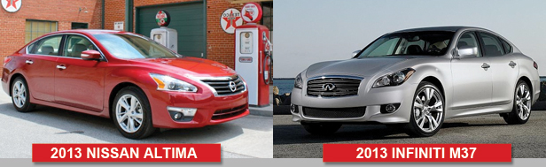 2013 Nissan Altima Looks Very Similar to the Infiniti M37