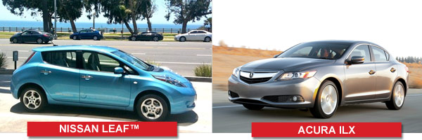 The Nissan LEAF & The Acura ILX