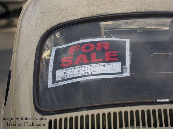 how to sell a used car privately