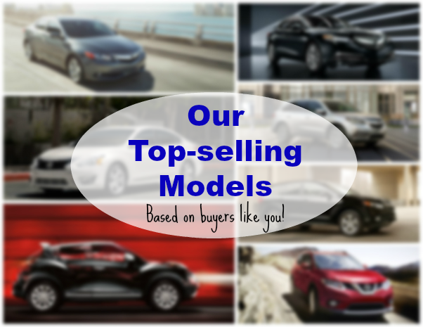top selling acura and nissan models